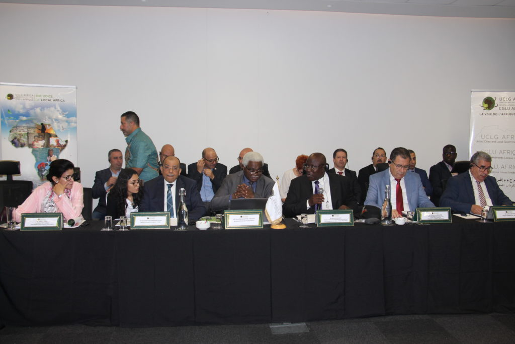 The UCLG Africa Statutory meetings held in Durban in the frange of the World Summit of Local Regional Leaders